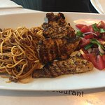 Grilled Chicken with pasta