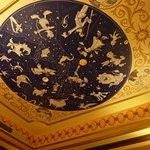 部屋の天井画 さすがに光りはしません。