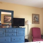 The bedroom at Samoset Resort - lovely and relaxing bedroom