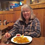 My wife had hand-breaded shrimp with fries,