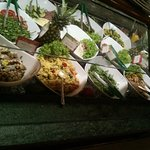 buffet with salads