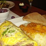 Corned beef omelet