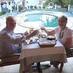 Mama and Dad enjoying lunch at Calma