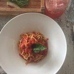 Fetuccini al pomodoro & basil