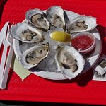 What we all come for  - the Wellfleet oysters at Mac's!