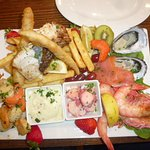 Seafood platter for one $55