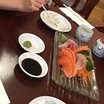 sashimi set for one. (pickles also provided)