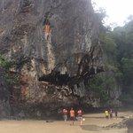 Sea caves/beach