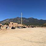Pueblo building from a distance