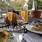 Gourmet breakfast served on our veranda, promptly at 9am.