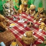 Part of taddy bear collection at Newby Hall