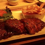 My very large portion of ribs!