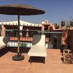 Sun loungers on the roof terrace