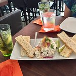 Tantalo Civiche-large and wonderful portion accompanied by mojitos