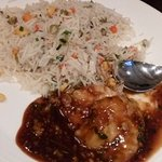 vegetable rice with chicken