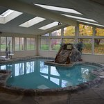 Small, shallow indoor pool