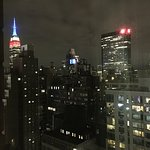 This was our view from our room on the 31st floor.  We watched the Empire State Building change