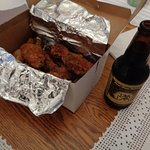 chicken wings from Monte Carlo. The beer is from my frig.