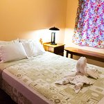 Comfortable Queen Bed in all our suites