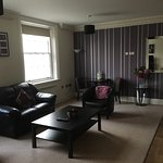 One-bedroom suite - no wardrobe, large living room but badly designed bathroom