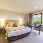 Fantail Suite. A king room which has recently been refurbished with quality bedding and furnishi