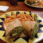 First time with a wrap and it was delicious.. presentatiion was great