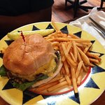 My friend loved his burger... it was hugh and the fries were oh so good