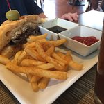 french dip sandwich & fries (1/2 order)