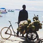 Tradizionale venditore di cocco.