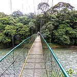 Bridge from cabin area to forest reserve over Sarapiqui River