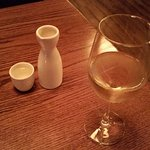 Sake (L) and Riesling
