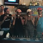 Taking our 2nd shot from the Shot Ski!!!! thanks Chris!