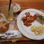 Dinner at Cafe Muji - not free