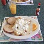 Creamed Chipped Beef on Homefries