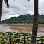 Mekong River from hotel terrace