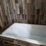 Whirlpool tub in Cottage bathroom