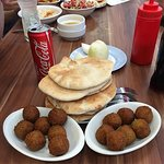 Breakfast at Abu Hassan, Jaffa. W. courtesy of