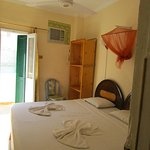 Double room with ensuite bathroom & balcony, super king bed