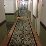 This is the hallway on the 17th floor. The photo gives an indication of the style of the hotel