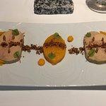 Foie gras and butternut squash
