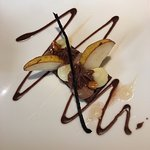 Chocolate and pear desser