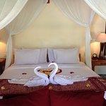 pool villa room bed, honeymoon