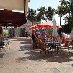 Chino Luns outside terrace.