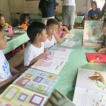 Guests took books for the children to read at the Soup Kitchen, these were very popular.
