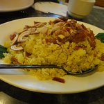 portion of pineapple fried rice