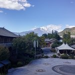 View of Jade Dragon Mountain from the lounge bar balcony
