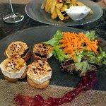 Überbackener Ziegenkäse und Vegetarian Vancouver