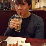 His first Rik-a-Rita. An awesome adult beverage from Rik's Cafe in Hagerstown
