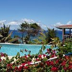 Our swimming pool overlooks the Caribbean Sea and the Grenadines.