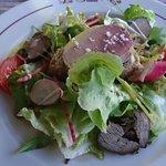 assiètte foie gras et boeuf